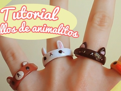【TUTORIAL】Cómo hacer anillos de animalitos! ❤ (DIY. How to make a cute animal rings ❤)