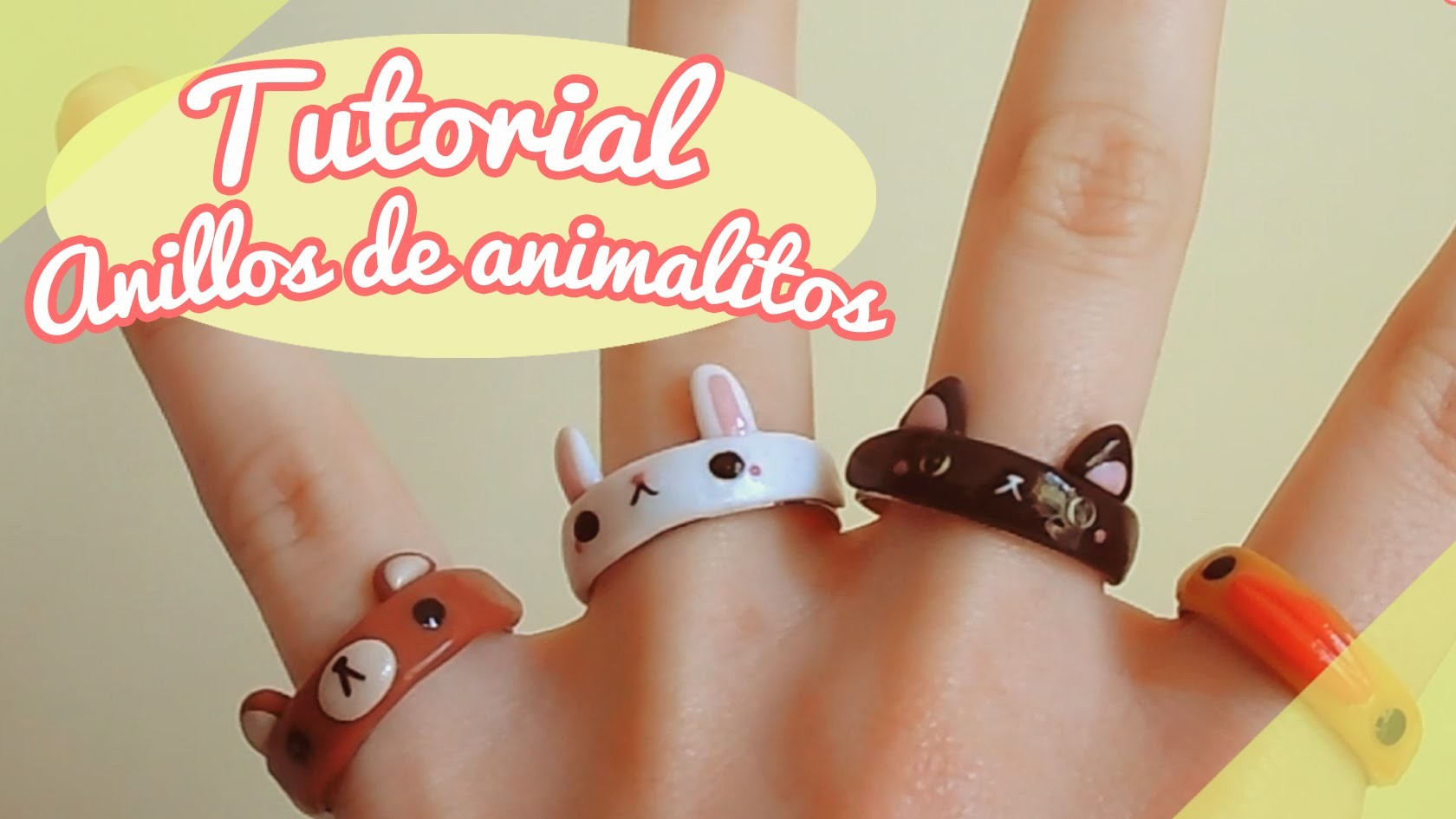 【TUTORIAL】Cómo hacer anillos de animalitos! ❤ (DIY. How to make a cute animal rings ❤)