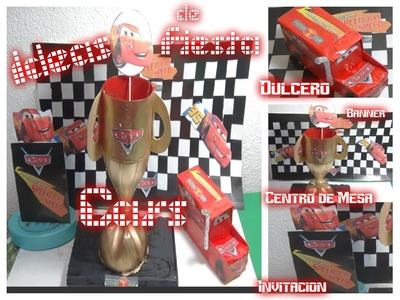 Ideas Fiesta de Cars Tutorial DIY.Cars birthday party ideas