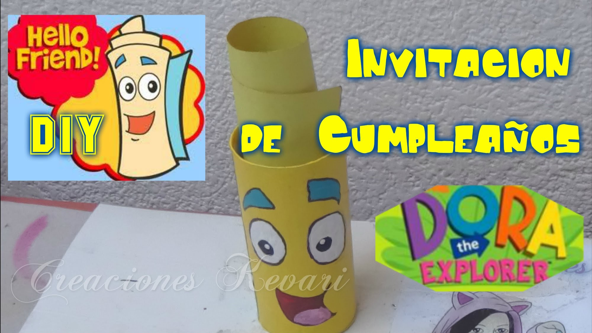 Invitacion de Cumpleaños de Mapa Dora la Exploradora.DIY Tutorial Birthday Invitations