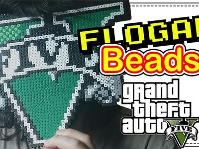 LOGO GTA V - DIY- Tutorial Pearl.Hama Beads para Gamers - FloGar o.O