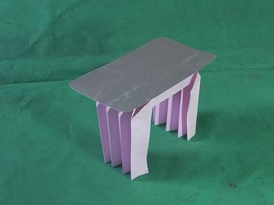 Móveis de Origamis #02 Como Fazer Mesa 01