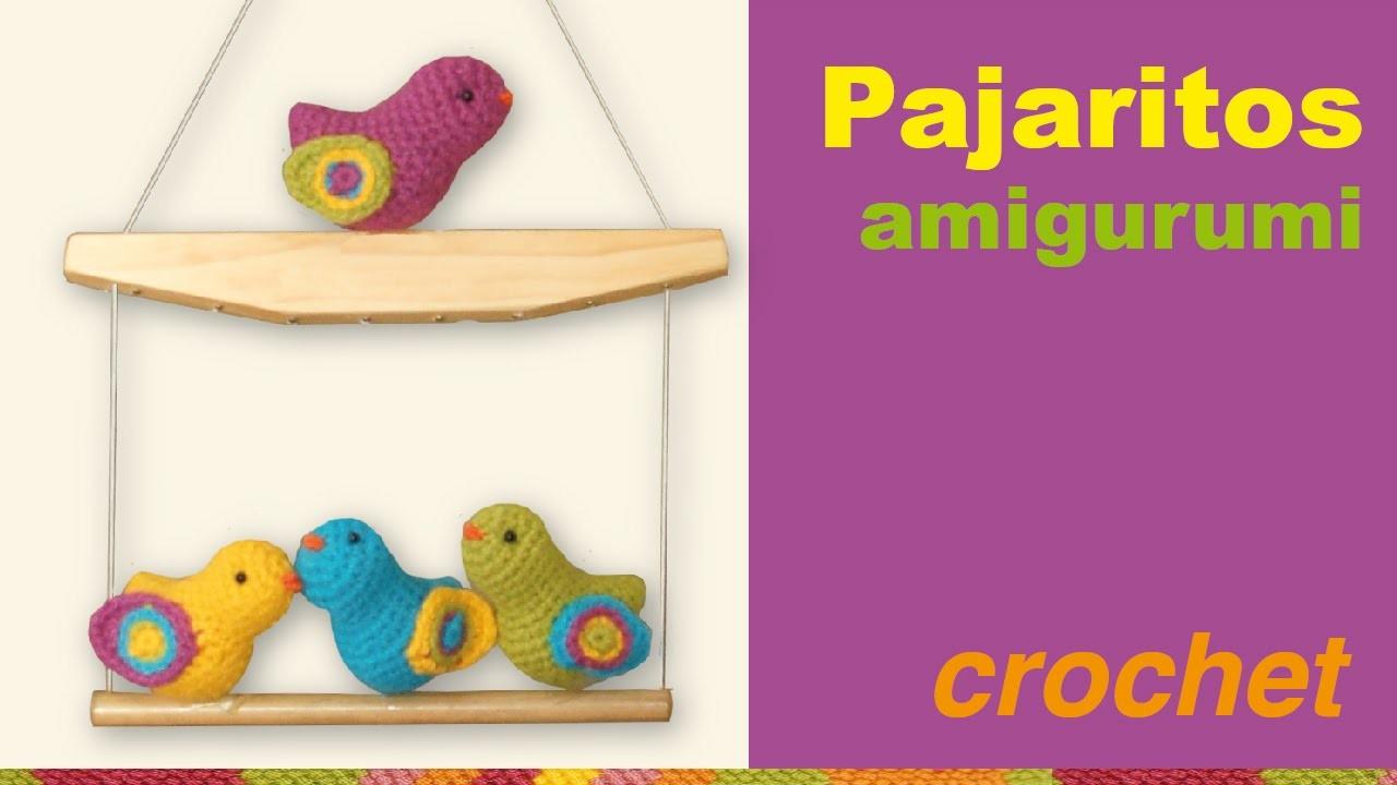 Pajaritos amigurumi (tejidos a crochet). English subtitlles: amigurumi birds