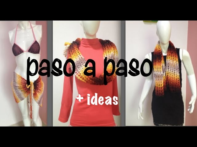 Pareo Capa Blusa Multi usos Tejido Fácil #Ganchillo, Easy #Crochet Layer Up, Blouse and more DIY