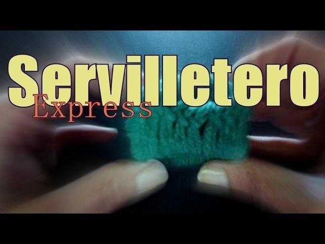 Servilleteros express al ganchillo (crochet napkin ring) -tejido para zurdos-