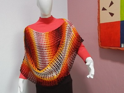 Tejido Fácil Multiusos con 2 Rectángulos #Ganchillo #Crochet Easy Cape Blouse lay out #DIY