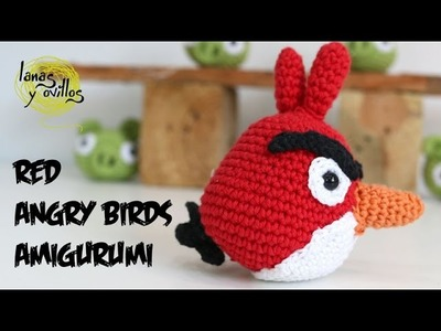Tutorial Angry Birds Rojo Amigurumi Red 1 de 2 (English subtitles)