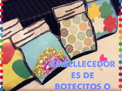 Tutorial: Embellecedores de Frascos o botesitos- #DIY #Peticion300Subs