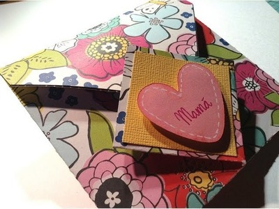 TUTORIAL Mini álbum-Tarjeta para mamá.Mother's day mini album-card
