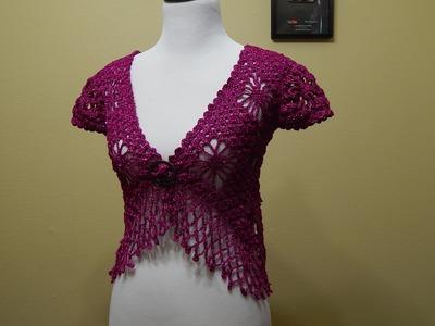 Bolero Bugambilia Crochet parte 1 de 3