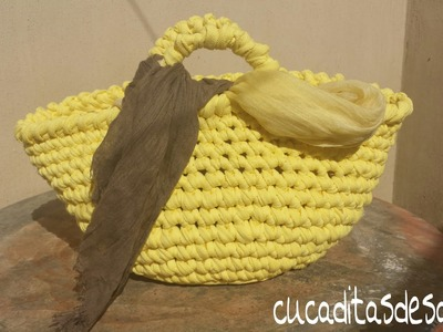 CAPAZO A TRAPILLO PASO PASO !!TUTORIAL DIY ¡¡. Basket of Trapillo step by step.