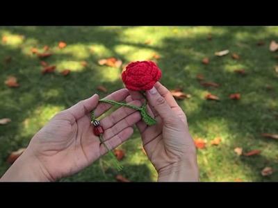 Cómo hacer una flor marcapáginas de ganchillo