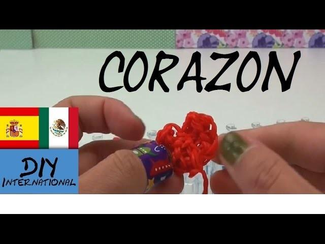 CORAZON DE GOMITAS - CON TELAR - TUTORIAL EN ESPAÑOL - DIY