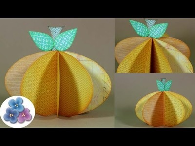 DIY Calabazas de Papel *Paper Pumpkin* Manualidades Halloween Thanksgiving Pintura Facil