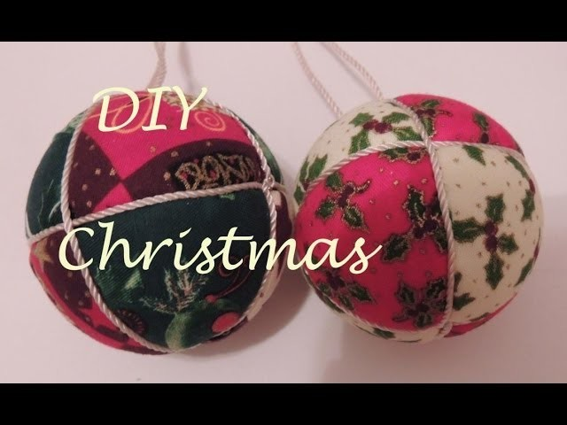 DIY Patchwork sin aguja. Como forrar una bola de tela. Adorno navideño. Christmas ornament.