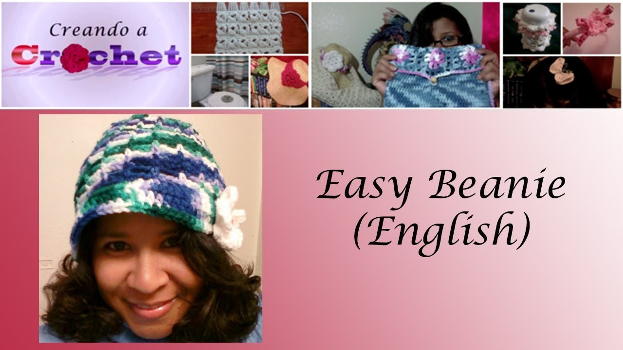 Easy Beanie - Crochet tutorial (English)