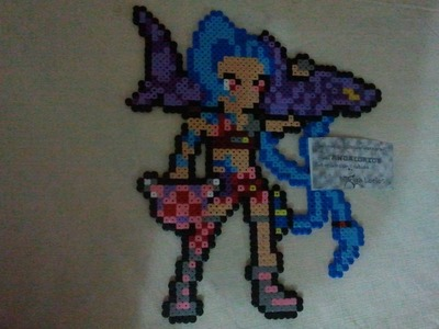 Jinx, league of legends, hama beads midi