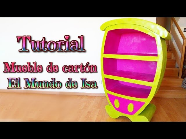 Manualidades: Mueble de cartón para niños, DIY cartoon furniture - YouTube - Isa ❤️