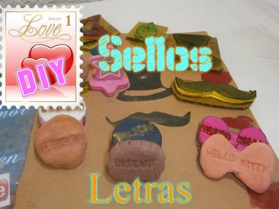 Sellos Caseros Letras y Formas Personalizados,Crea Tinta scrapbook. Homemade Stamps