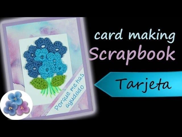 Tarjetas para Mama *Card Making* Scrapbook Dia de la Madre Pintura Facil Para Ti