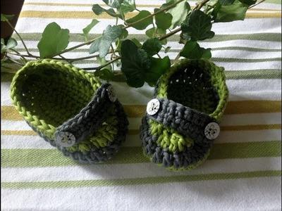Zapatitos estilo mocasín en crochet - Instrucción zapatitos de BerlinCrochet - Parte3, Correa
