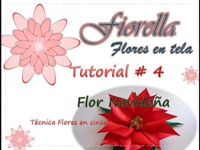 Tutorial #4 Flor de Navidad. Christmas flower