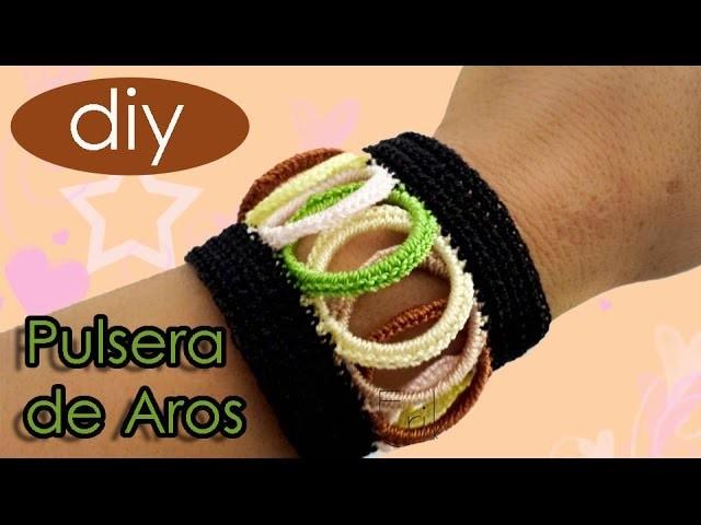 #Pulsera #Brazalete #Aros de Plastico #Reciclaje #crochet