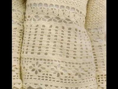 Como Tejer Jersey Variedad de Puntos Calados.puntillas a Crochet