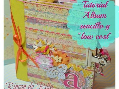 Tutorial Scrapbooking Album Sencillo y low cost cap7: Decoración
