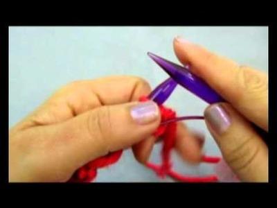 Cómo montar los puntos para tejer un cuello Moebius
