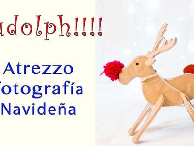 Red Nose Rudolph!! El reno molón de Papá Noel |Tutorial DIY con patrón