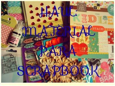 PRIMERAS COMPRAS. Material para scrapbook