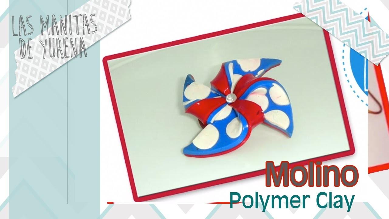 Molino marinero en arcilla polimerica polymer clay miniatura