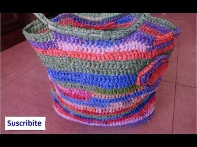 Cómo Hacer un Bolso con Bolsas Plásticas Recicladas a Crochet