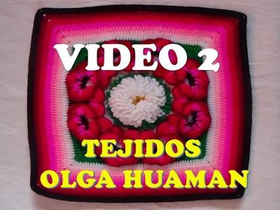 "Colcha a crochet : video 2, muestra ""pensamiento"""