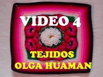 "Colcha a crochet: video 4, muestra ""pensamiento"""