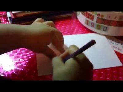 COMO HACER LOS MESES DEL MINI ALBUM SCRAPBOOK 2015 (enero a junio)