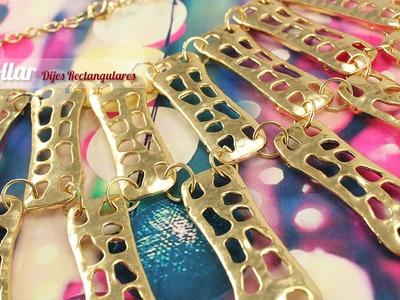 Como Hacer Un Collar Solo Con Cadena de Aluminio y Pendientes
