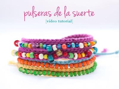 Cómo hacer una pulsera de ganchillo con bolitas | How to make a crochet bracelet