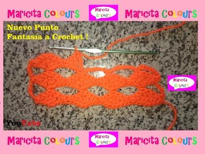 """Crochet Tutorial Punto Fantasía """"Hojas"""" por Maricita Colours"""