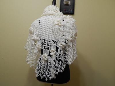 Flor # 13 para Chal con Flores Crochet