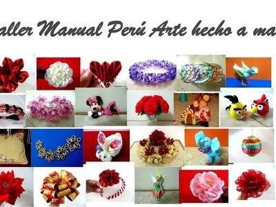 Flores Kanzashi en cintas Pulseras crats manualidades de tallermanualperu