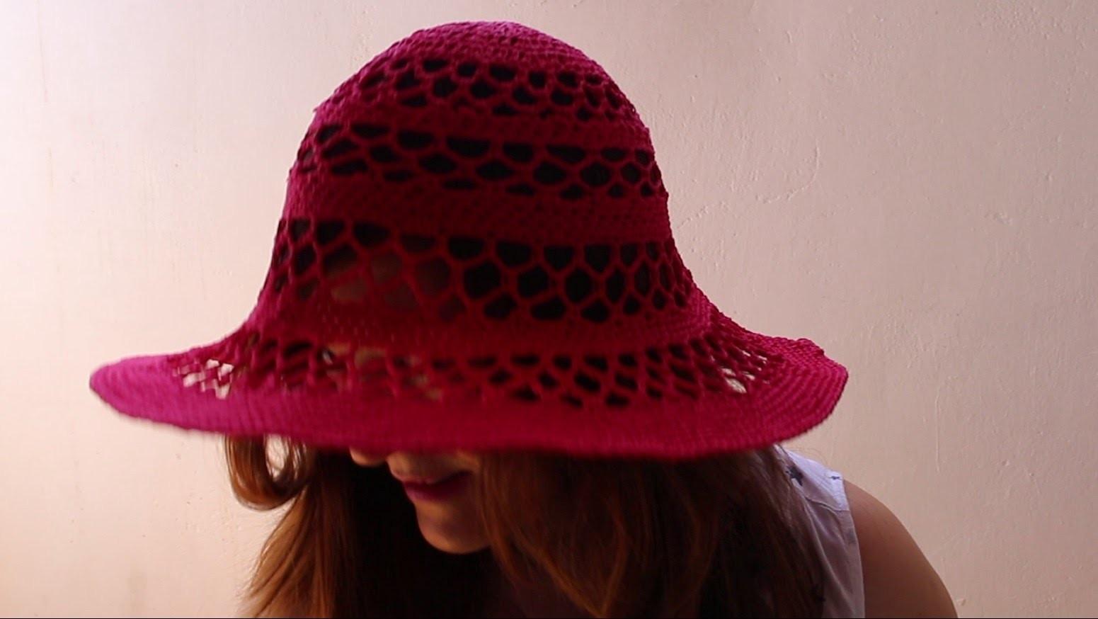 Pamela sun hat a crochet paso a paso   parte 1 de 2[2]