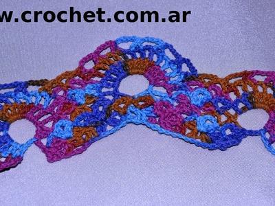 Puntilla N° 51 en tejido crochet tutorial paso a paso.