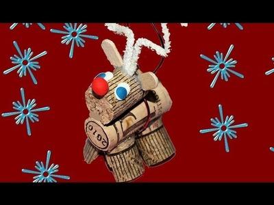 Reciclaje: Colgante de Reno. Rudolph Christmas ornament