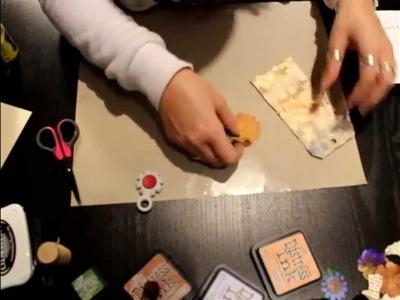 Técnica con embossing y tintas para hacer tags y decorar tus proyectos de Scrapbooking