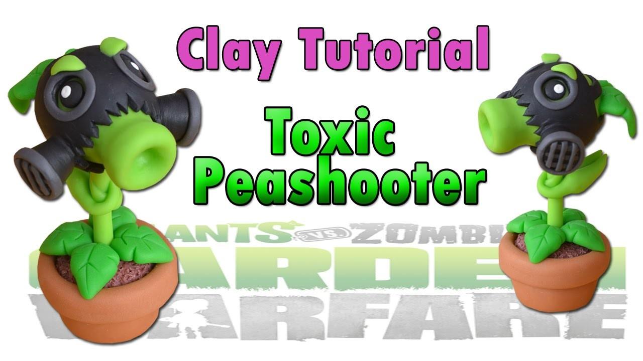Toxic Peashooter Clay Tutorial Polymer clay. Porcelana fria