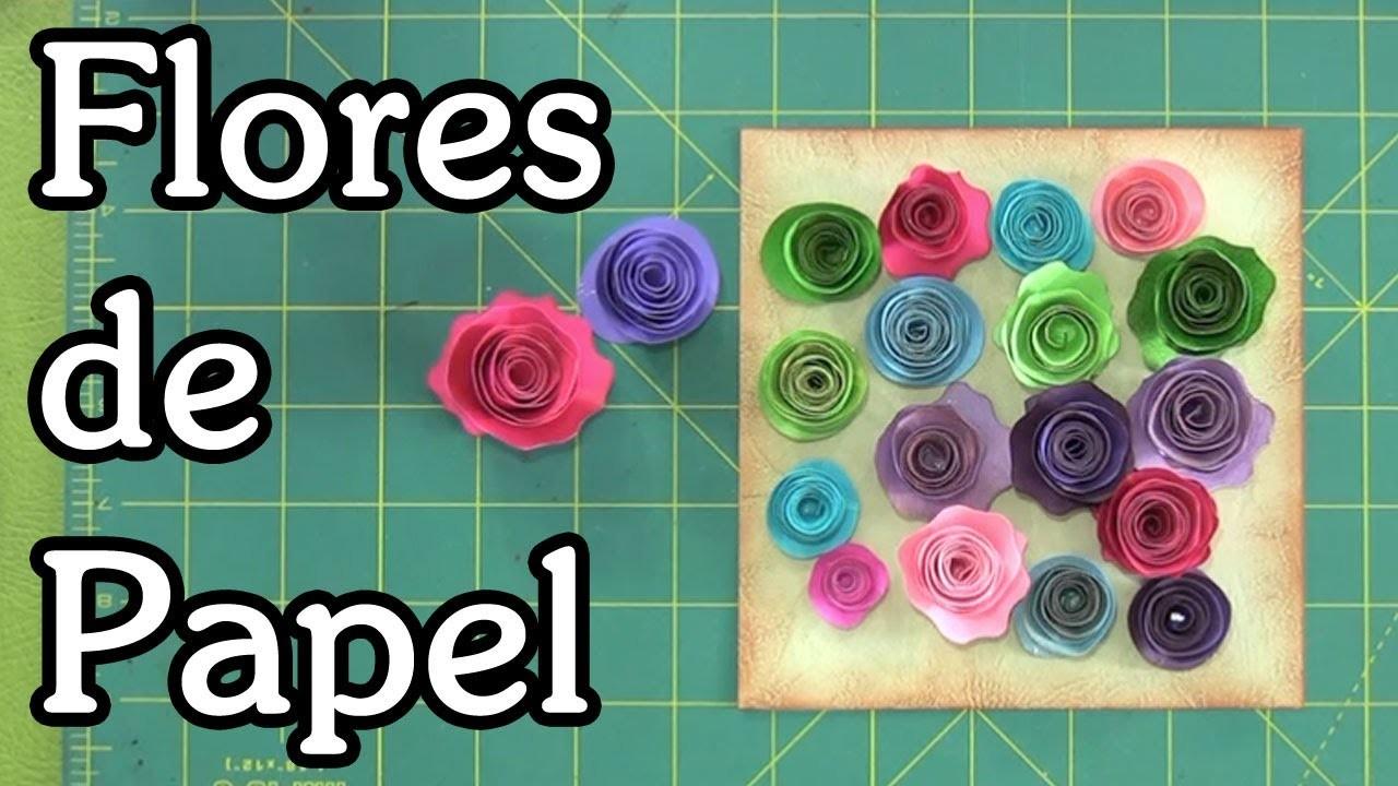 Tutorial Flores de papel Paper flowers