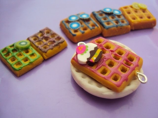 Tutorial: Waffle en Porcelana Fría. Arcilla Polimérica. Cold Porcelain Waffle. Polymer Clay