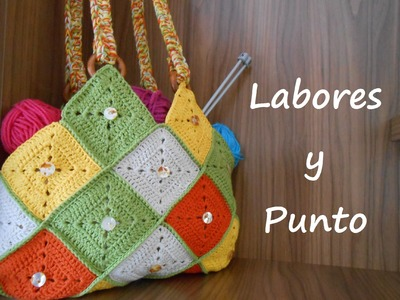 Aprende a hacer este bolso patchwork a ganchillo o crochet- Parte 2 de 2